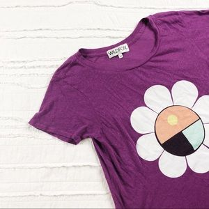 Wildfox | purple flower graphic tee